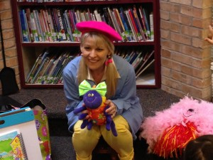 School visit with Miss Muffet & Bitsy