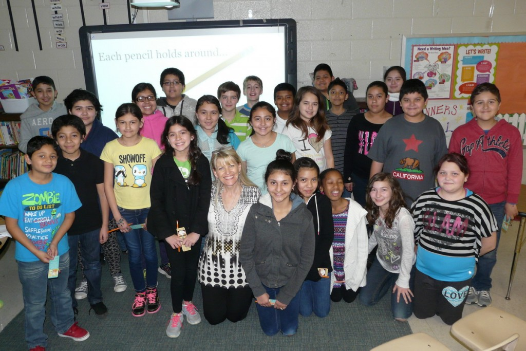 With a class of inquisitive fifth graders at Sugar Hill